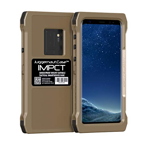 Juggernaut.Case IMPCT Smartphone Case - Compatible with Samsung Galaxy S9+, Flat Dark Earth