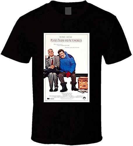 Whgdeftysd vliegtuigen treinen en auto's mannen 80's Movie Poster Vintage Fan T-Shirt