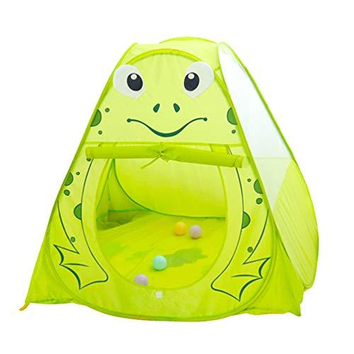 BESPORTBLE Mini Kasteeltent Draagbare Kikker Ontwerp Opvouwbaar Spel Huis Binnentent Speeltent Oceaan Ballenbad Voor Kinderen Kinderen