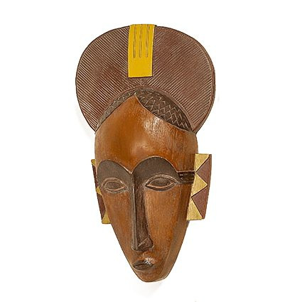Mascara Objeto de Pared Decorativo Resina Sintetica Marrón Claro 47 cm Alto