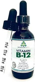 Liquid Vitamin B12 Drops - Halal, Kosher, Vegan Vit B12 Sublingual Drops 2500mcg Methylcobalamin - For Weight Loss and Energy