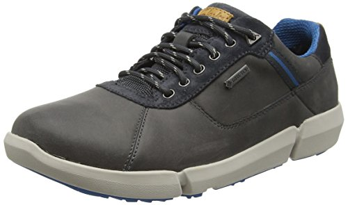 Clarks Herren Triman Lo GTX Kurzschaft Stiefel, Grau (Grey Leather), 41.5
