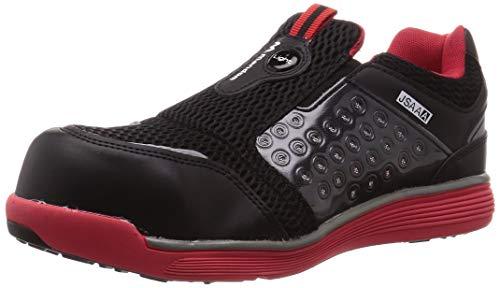 [マルゴ] 安全靴 作業靴 樹脂先芯 軽量 JSAA A種 耐油 4E マンダムセーフティーLight 767 レッド/ブラック 26.5 cm