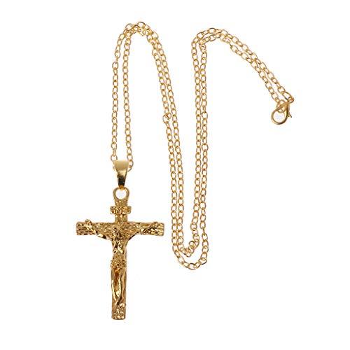 LDA GET Fresh Catholic Jesus Christ on INRI Cross Crucifix Pendant Necklace Fashion Jewelry Jesus Cross Men's Pendant Gold