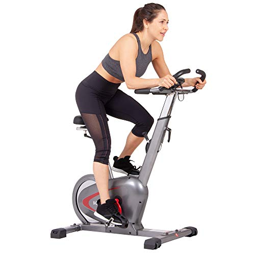 Body Rider Indoor Upright Bike with Curve Crank Tech and Rear Drive Flywheel BCY6000, Grey/Black/Red