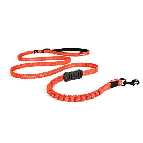 "EzyDog Zero Shock Leash LITE - Best Shock Absorbing Bungee Dog Leash & Training Lead - Double Handle Reflective Leash for Traffic Control - for Walking, Jogging and Running (72"", Orange)"