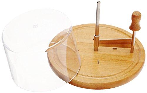 1 coperchio di plastica. Legno di faggio. Diametro: 22 cm. Descrizione del prodotto: 1 girolle taglia formaggio.  Dimensioni: 22,5 x 22,5 x 15 cm.