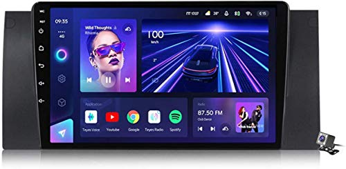 Android 9.1 GPS Navegación Estéreo Radio para BMW X5 E39 E53 1999-2006, 9'Pantalla Coche Media Player Soporte CARPALY / 5G FM RDS/Control Volante/Bluetooth Manos Libres