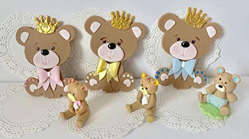 Baby Bear Cake Topper Set