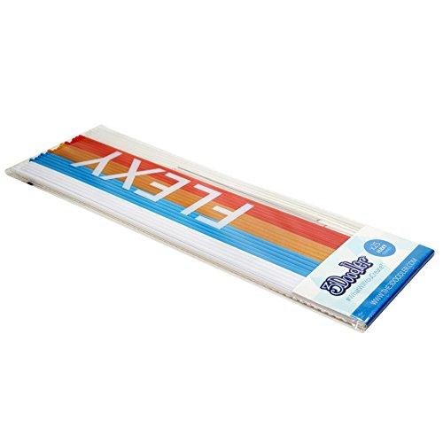 3doodler – Filament flexy to the pen – 5 Stück, wht/blau/gold/rot/transp