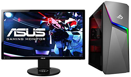 ASUS ROG Strix GL10DH 2nd Gen AMD 8 Core Ryzen 7-2700 Gaming Desktop (8GB RAM/512GB NVMe SSD/Windows 10/4GB NVIDIA GeForce GTX 1650 Graphics/with Keyword & Mouse), GL10DH-IN011T and Monitor Combo
