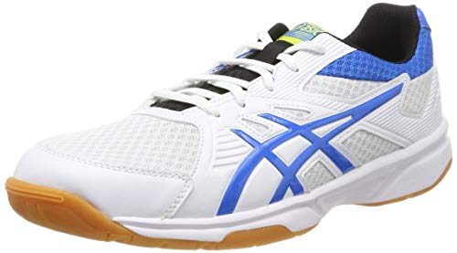 ASICS Herren Upcourt 3 1071A019-104 Volleyball-Schuh, White/Electric Blue, 45 EU