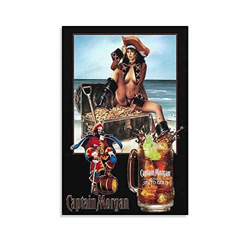 GNKIO Classics Captain Morgan Spiced Gold Retro Metal Tin Sign TIN Sign Leinwand Kunst Poster und Wand Kunst Bild Druck Moderne Familie Schlafzimmer Dekor Poster 08x12inch(20x30cm)
