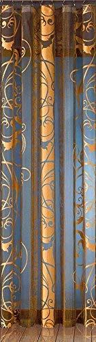 Vorhang Schal Gardine Store Gold-schwarz/modernе Raumteiler / 160 x 245 cm/ 910