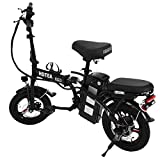 VKEKIEO 14 Inch Folding Electric Bike, 250 W Electric Bicycle with LCD Display and Motor Removable Battery, ebike for Adults and Teenager