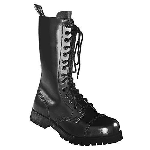 Boots & Braces - 14 Loch Stiefel Rangers Schwarz Größe 40 (UK6)