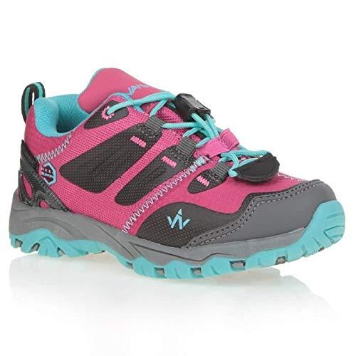 WANABEE Chaussures de randonnée Hike 300 Low - Fille - Fuchsia et Bleu