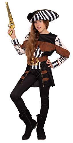 Magicoo - Costume da pirata per bambina, taglia 110-146, con vestito e cappello