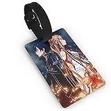 Etiqueta de equipaje de espada en línea del arte Encordado etiqueta/lazo en etiquetas de equipaje etiquetas de equipaje tarjeta PVC 5.6 x 9.4 cm