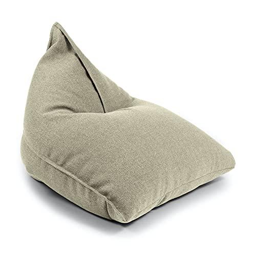 mokebo Indoor Sitzsack 'Der Schlitten' aus Recyclingstoff, nachhaltiger Bean Bag & leichte Relaxliege, Made in Schwarzwald
