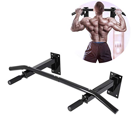 Wall Mounted Pull Up Bar Chin up Bar Strength Training Pull-Up Bars for Home Use, Exercise Bar Upper Body Workout Bar, Horizontal Bar Fitness Equipment, Chinning Up Bars Bracket Workout Dip Station