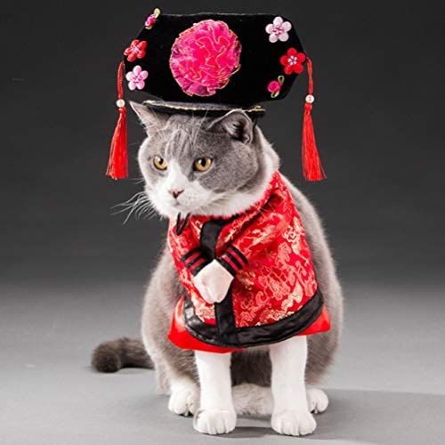 Yu Xiang Pet Gege Costume Dogs Cosplay Chinese Style Tang Dynasty Gege Clothes Funny Personalized product image