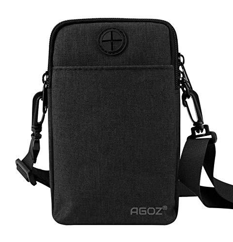 Agoz Crossbody Handbag Cell Phone Purse Wallet Sling Shoulder Bag Strap for iPhone 11 XS MAX XR X 8 Plus, 7, 6S, Samsung S10 Plus, S10e, Note 10 9 8, S9,S8 J7,Google Pixel 3A XL, LG Stylo 4 G8 (Black)