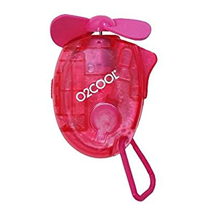 Small Carabiner Keychain Misting Fan, Raspberry