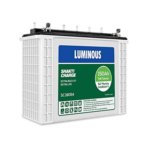 LUMINOUS SC18054, 150AH BATTERY 54 MONTHS WARRANTY