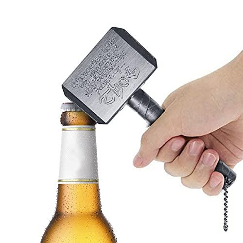 Thor Hammer Flaschenöffner Bar Bieröffner,Innovation Shaped Bier und Getränk Flaschenöffner, Perfekte Geschenk für Bierliebhaber,Perfekt für Bar Party BBQ und Heimgebrauch (Silber)