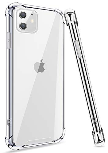 ANSIWEE iPhone 11 Color Gradient Protective Case, Colorful and Clear Hard Back Shock Drop Proof Impact Resist Extreme Durable Protective Cover Cases for Apple iPhone 11 (Crystal Clear)