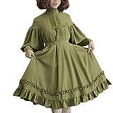 OHQ Damen Kleid Langarm Knielang Rundhals Partykleid Partykleid Mini Strandkleid Damenkleider Casual...
