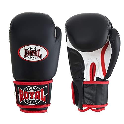 ROYAL FIGHT GEAR Guantes de boxeo de piel auténtica de alta