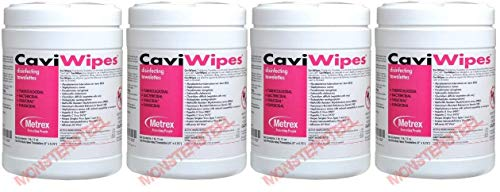 CaviWipes - Cavicide Germacidal Cleaner Wipes 160 ct (Fоur Paсk)
