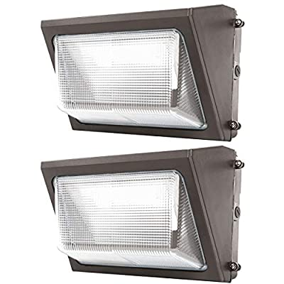 Sunco Lighting 2 Pack 80W LED Wall Pack, Daylight 5000K, 7600 LM, HID Replacement, IP65, 120-277V, Bright Consistent Commercial Outdoor Security Lighting - ETL, DLC Listed
