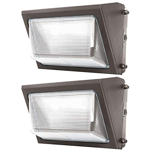 Sunco Lighting 2 Pack 80W LED Wall Pack, Daylight 5000K, 7600 LM, HID Replacement, IP65, 120-277V, Bright Consistent Commercial Outdoor Security...