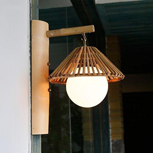 Appliques Applique Murale rétro décorative Lampe Restaurant Bambou thé chazhuang Simple Bambou Applique Murale Lèche-Murs
