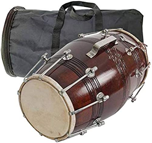 AMRO manufacturers Professional Handmade Wooden dholak With BAG dholak music instruments 01