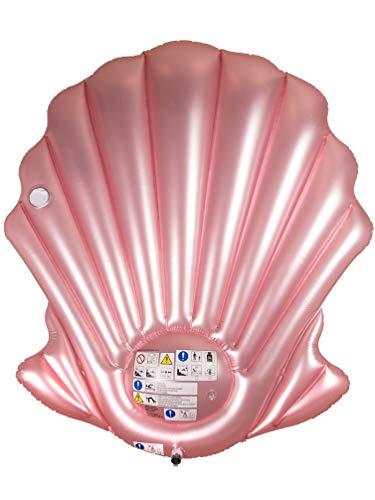 MIK funshopping Aufblasbare Luftmatratze Muschel mit Getränkehalter 163 x 151 cm