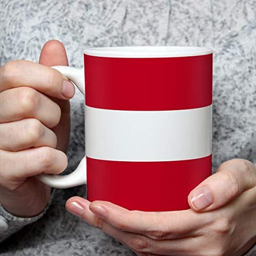Geschenk Tasse mit Flagge Österreich Länder Flaggen Geburtstagsgeschenk Souvenir Austria für Reiseliebhaber Frauen Männer