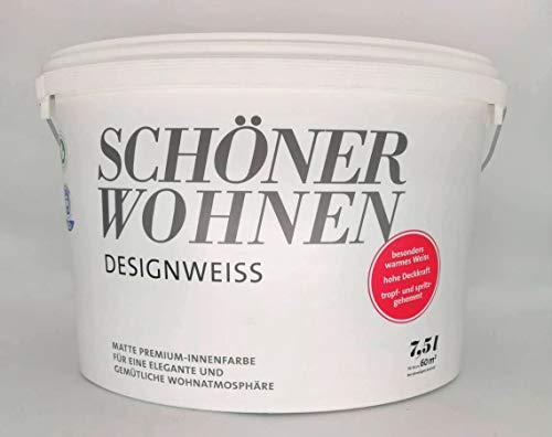 Schöner Wohnen Designweiss Premium Innenfarbe, Wandfarbe, Matt, 7.5 L