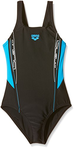 arena Mädchen Badeanzug Sprinter, Black/Turquoise, 128, 1A871