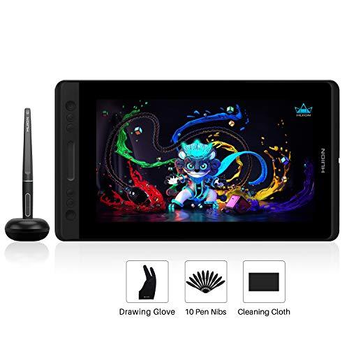 HUION Kamvas Pro 13(Ohne Ständer) Grafiktablett mit Display mit 13,3-Zoll-blendfreiem, volllaminiertem IPS-Bildschirm, batterielosem Stift mit Neigefunktion, 120% sRGB-Farbraum