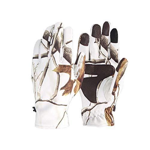 Handschuhe Touchscreen, Herren Outdoor Soft Shell Bionic Camouflage Kratzfest Winddicht Wasserdicht Touchscreen Handschuhe Fahren Reiten Laufen M-XL-B-L