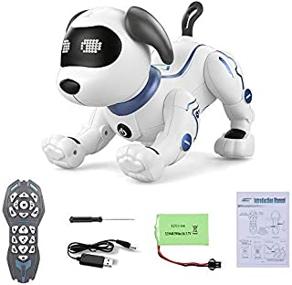 Goolsky TOYS K16A Electronic Pets Robot Dog Stunt Dog Voice Command Programmable Touch-sense Music Song Toy for Kids Birth...