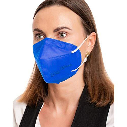 ProMedicalCare. Mundschutz FFP2 Maske blau, Mundschutz Maske FFP2 blau, Masken Mundschutz FFP2, 5er Pack