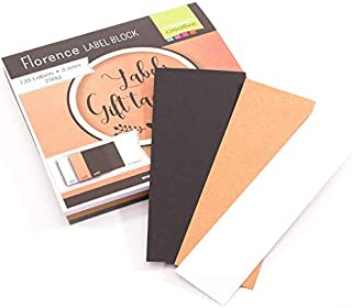 Vaessen Creative Florence Cardstock Label Block, 3 sizes and 3 Colours, Paper for Gift Tags, Scrapbooking, Card Making and...