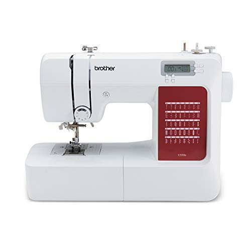 Brother CS10s Máquina de coser, Metal, blanco, rojo, Full-size sewing machine