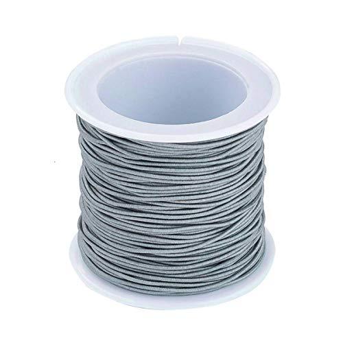 Sadingo Pulsera goma gris cordon elastico redondo 20 metros