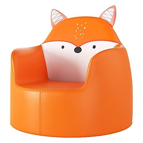 Kindersofa Kindercouch Kindersessel Babysessel Babysofa Kinder Sessel Sofa für Jungen und Mädchen Kindermöbel Kunstleder Fuchs